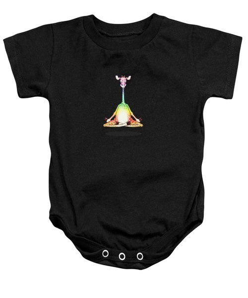 Levitating Meditating Rainbow Giraffe Baby Onesie