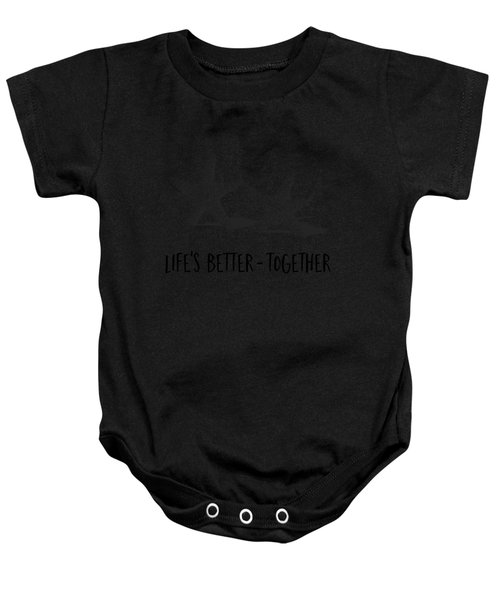 Life Is Better Together Sketch Tee Baby Onesie