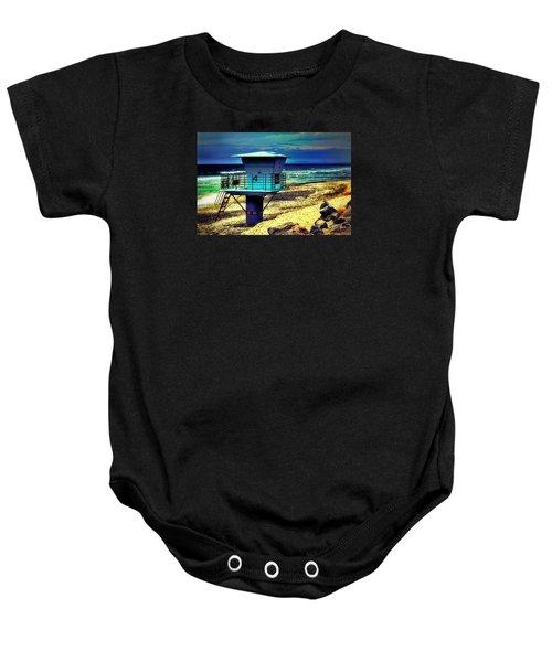 Lifeguard Tower 4 - Del Mar Baby Onesie