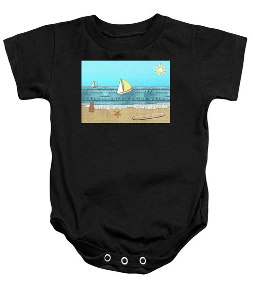 Life's A Beach Baby Onesie