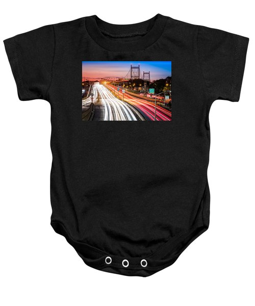 Light Trails On I-278 Near Triboro Bridge Baby Onesie