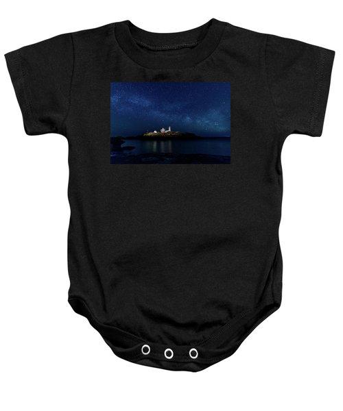 Light Up Nubble Lighthouse Baby Onesie