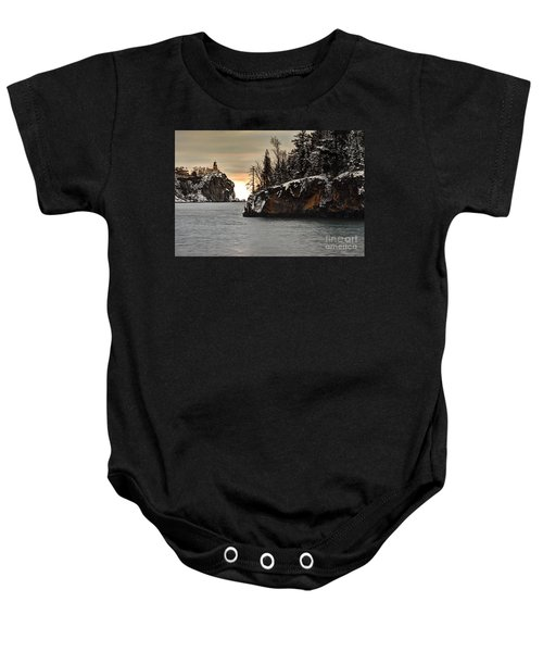 Lighthouse And Island At Dawn Baby Onesie