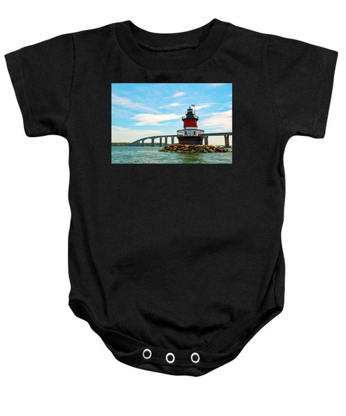 Lighthouse On A Small Island Baby Onesie