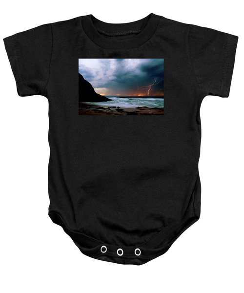 Lightning Strike Off Dana Point California Baby Onesie