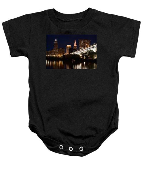 Lights In Cleveland Ohio Baby Onesie