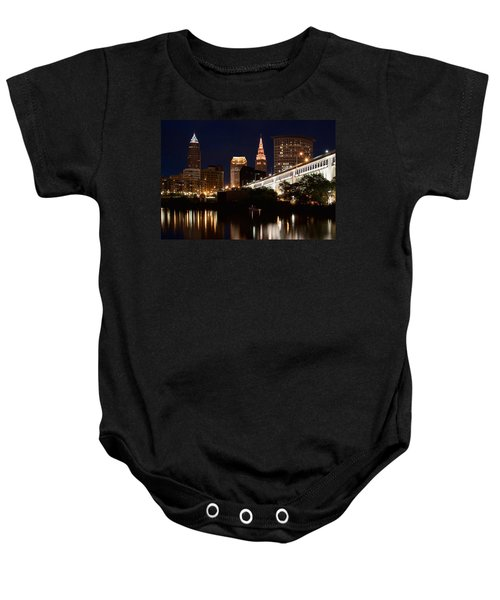Lights In Cleveland Ohio Baby Onesie