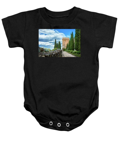 Like A Fortress In The Sky Baby Onesie
