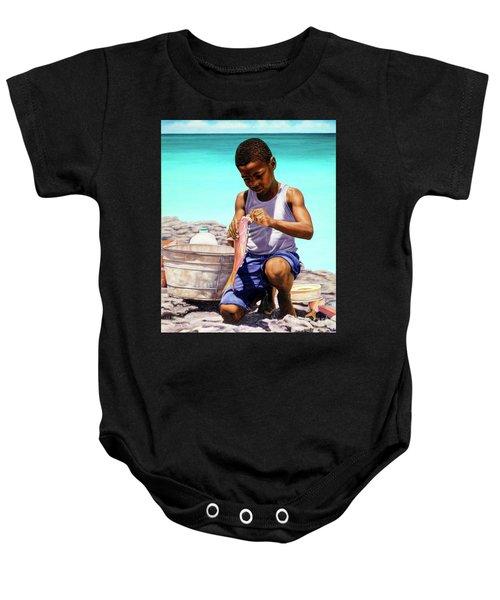 Lil Fisherman Baby Onesie