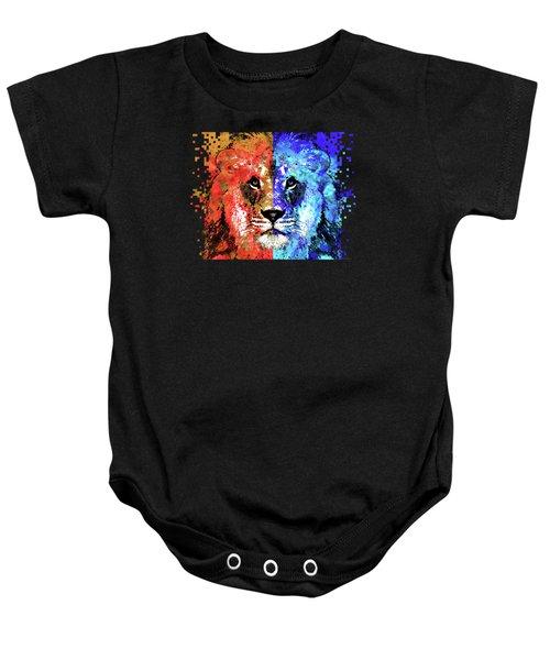 Lion Art - Majesty - Sharon Cummings Baby Onesie