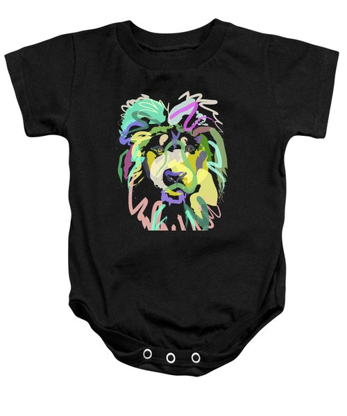 Baby Onesie featuring the painting Lion by Go Van Kampen