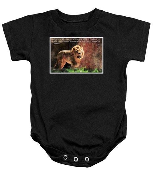 Lion Revelation 5 Baby Onesie