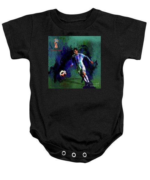 Lionel Messi 2018 World Cup  Baby Onesie
