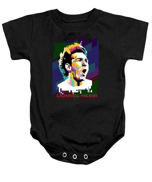 Lionnel Messi Art Baby Onesie