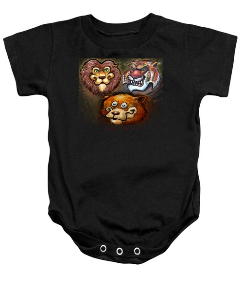 Lions And Tigers And Bears Oh My Baby Onesie