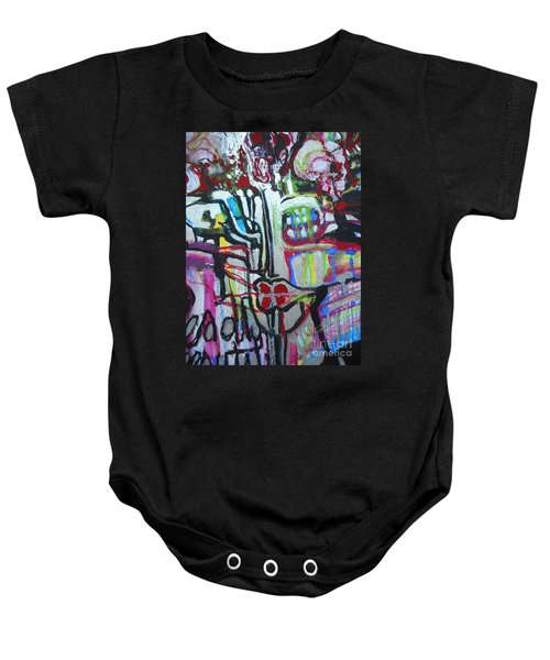 Lips Made Of Steel Baby Onesie