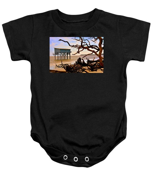 Little Blue Hunting Island State Park Beaufort Sc Baby Onesie
