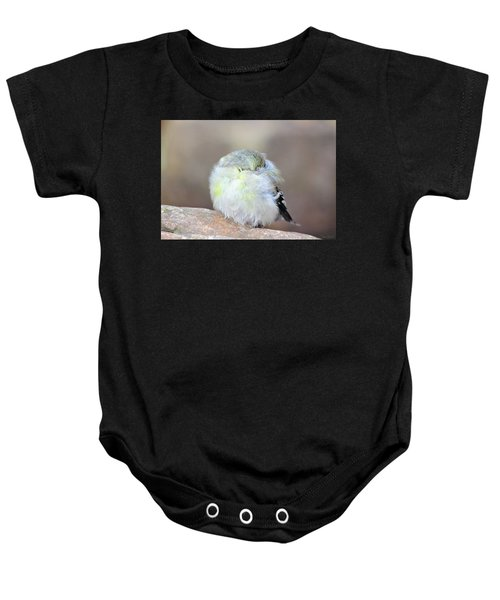 Little Sleeping Goldfinch Baby Onesie