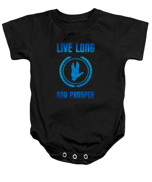Live Long And Prosper Spock's Hand Leonard Nimoy Geek Tribut Baby Onesie by Philipp Rietz