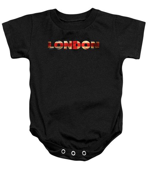 London Vintage British Flag Tee Baby Onesie by Edward Fielding