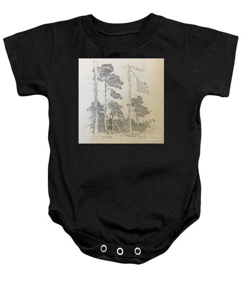 Lonely Pines Baby Onesie