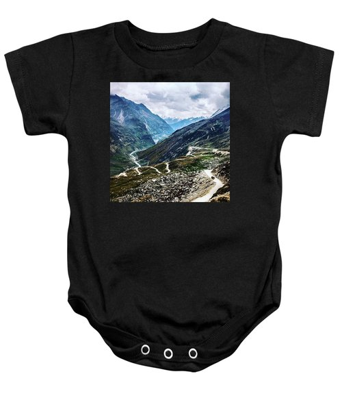 Long And Winding Roads Baby Onesie