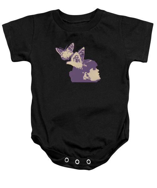 Long Gone Whisper - Amaranth Baby Onesie