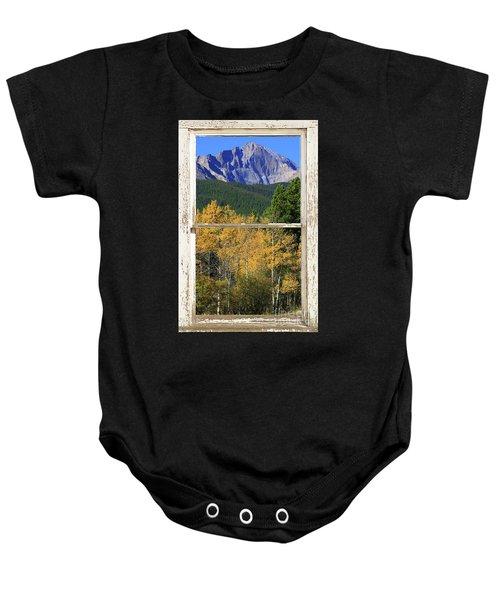 Longs Peak Window View Baby Onesie