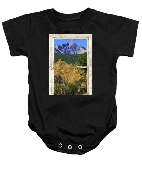 Longs Peak Window View Baby Onesie