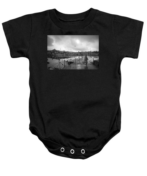 Looking And Passing By Baby Onesie