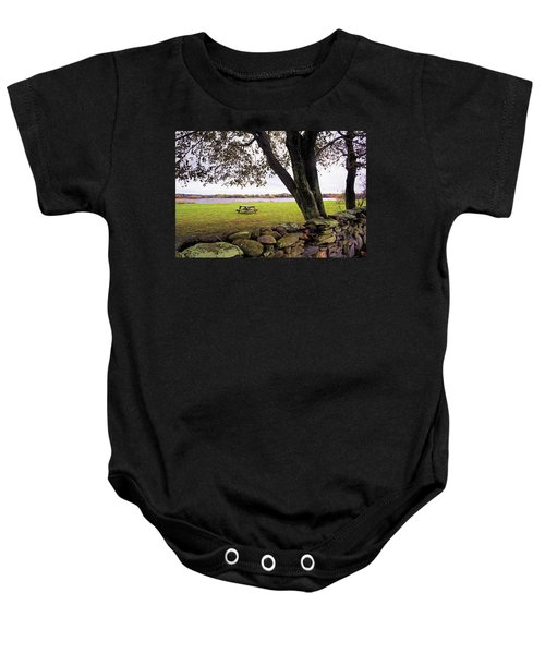 Looking Over The Wall Baby Onesie