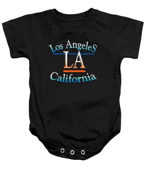 Los Angeles California Design Baby Onesie