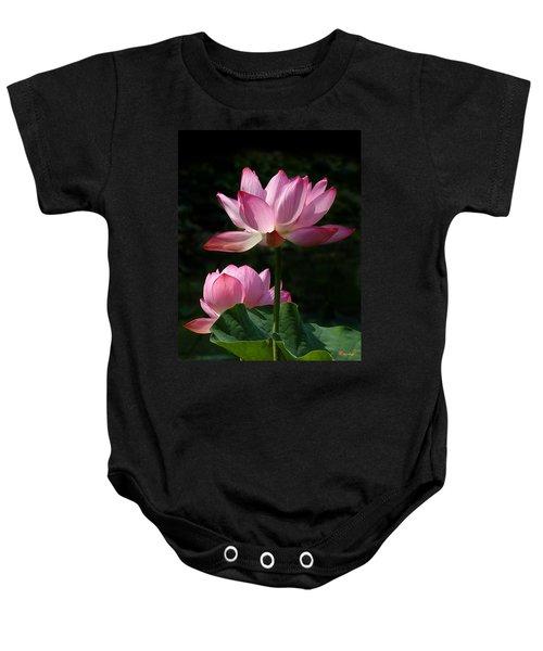 Lotus Beauties--upstaged Dl048 Baby Onesie