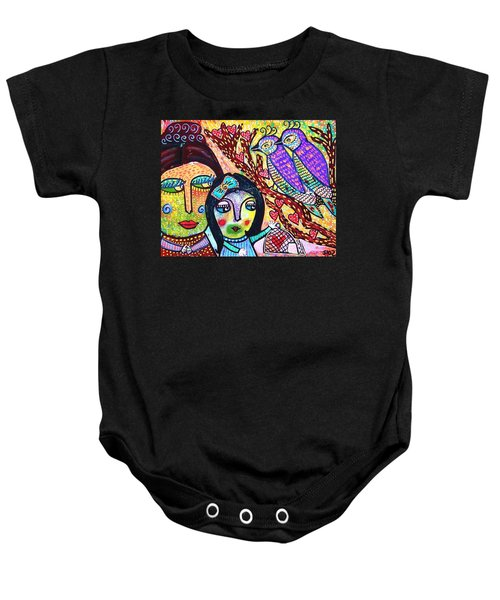 Love Birds And The Candy Heart Tree Baby Onesie