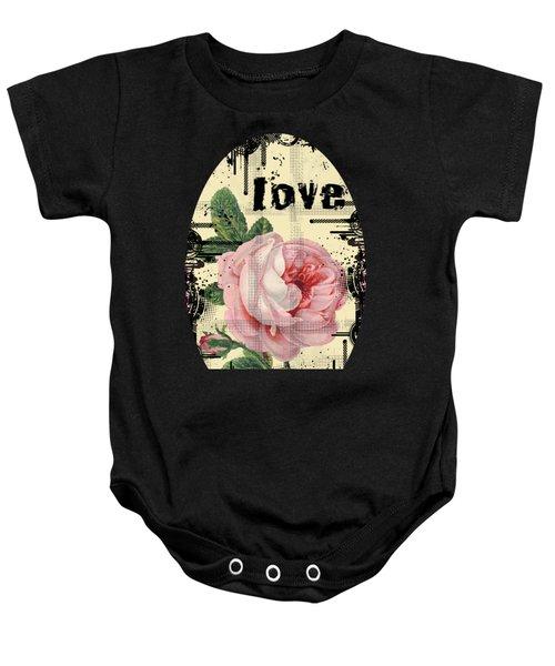 Love Grunge Rose Baby Onesie
