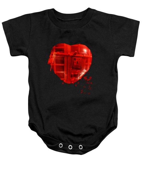 Love Locked Baby Onesie by Linda Lees