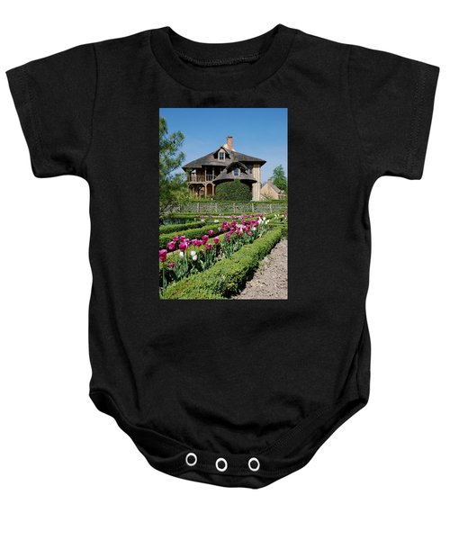 Baby Onesie featuring the photograph Lovely Garden And Cottage by Jennifer Ancker
