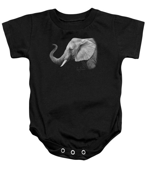 Lucky - Black And White Baby Onesie