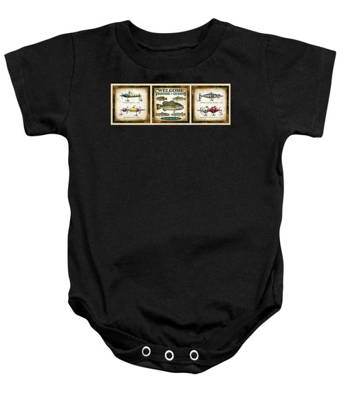 Lure Three Piece Panels Baby Onesie