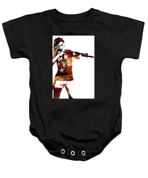 M1 Carbine And Bayonet Baby Onesie