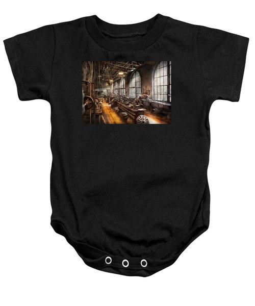 Machinist - A Room Full Of Lathes  Baby Onesie