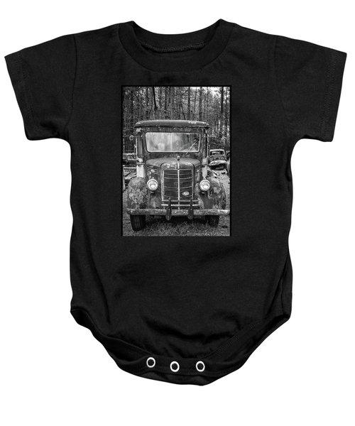 Mack Truck In A Junkyard Baby Onesie