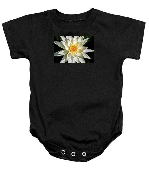 Macro Water Lily Baby Onesie