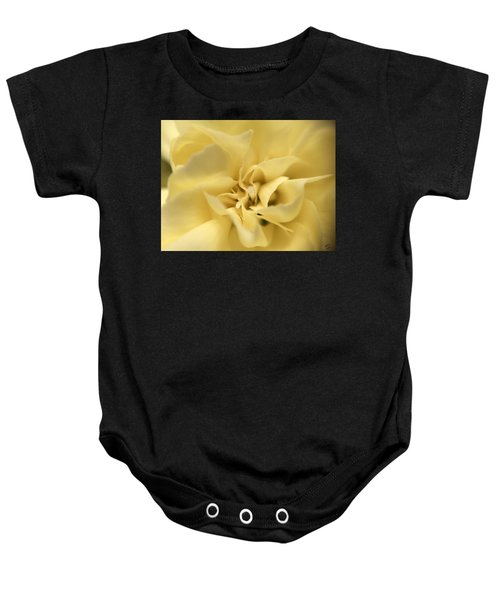 Macro Yellow Rose Baby Onesie
