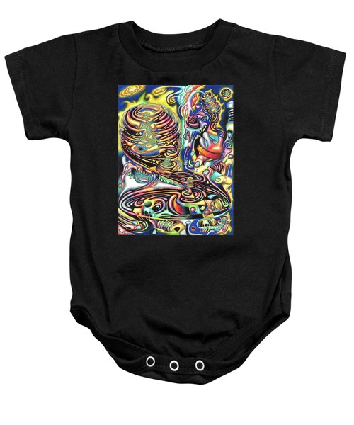 Macrocosmic Creation Of A Splendid Puzzle Baby Onesie