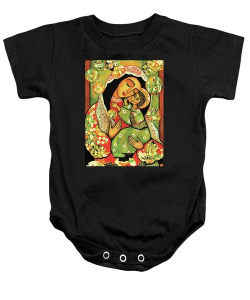Madonna And Child Baby Onesie by Eva Campbell