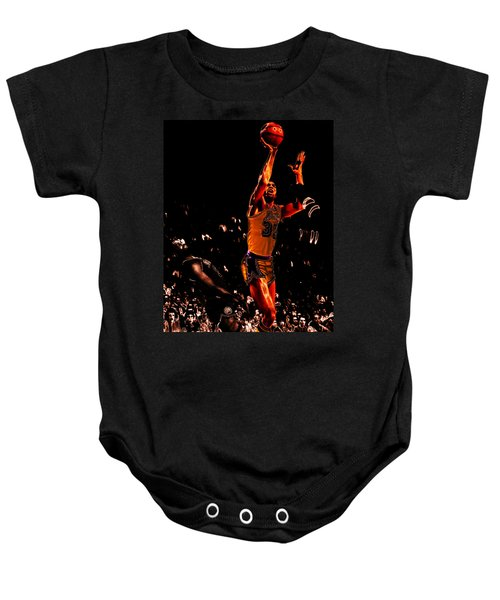 Magic Johnson Lean Back II Baby Onesie by Brian Reaves