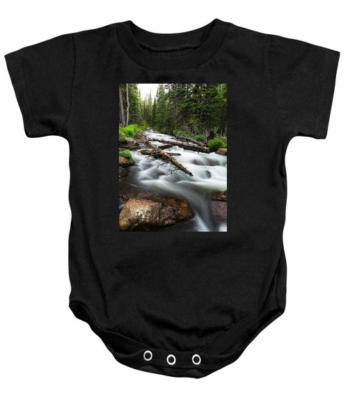 Baby Onesie featuring the photograph Magic Mountain Stream by James BO Insogna