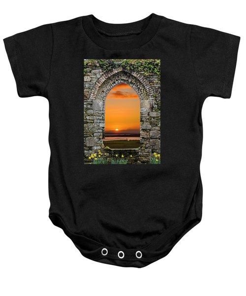 Baby Onesie featuring the photograph Magical Irish Spring Sunrise by James Truett