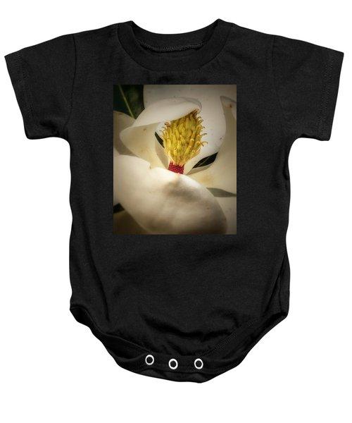 Magnolia Flower Baby Onesie